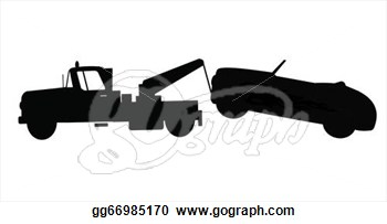 Stock Illustration   Car Being Towed   Clipart Gg66985170