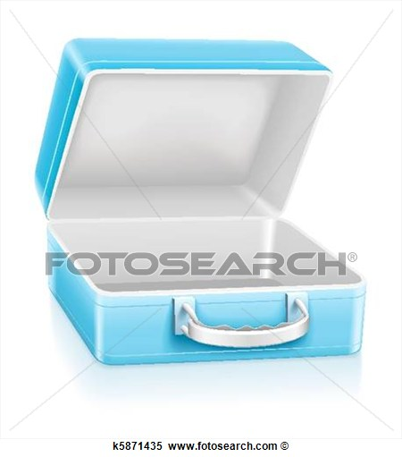 Stock Illustration   Empty Blue Lunch Box  Fotosearch   Search Clipart