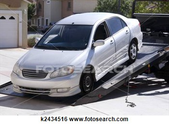 Stock Photo   Car Being Towed Away  Fotosearch   Search Stock Photos