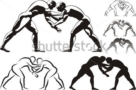 Wrestling Logo Clip Art Rf Clipart Pictures