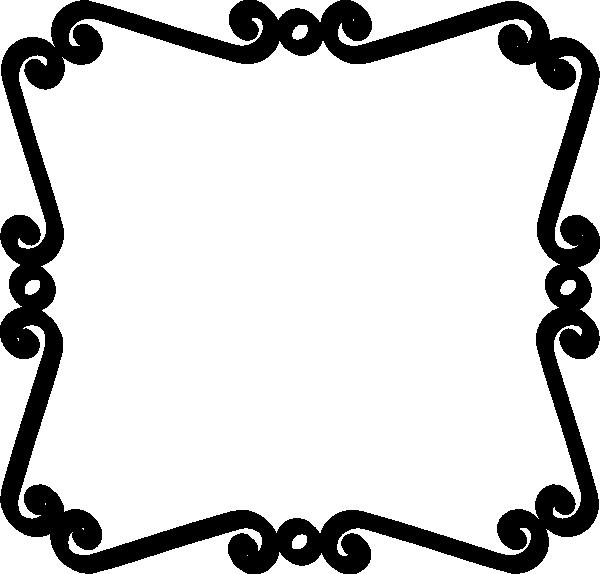 Black Scroll Border Clip Art At Clker Com   Vector Clip Art Online