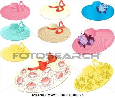 Clipart   Women S Summer Hats  Fotosearch   Search Clip Art