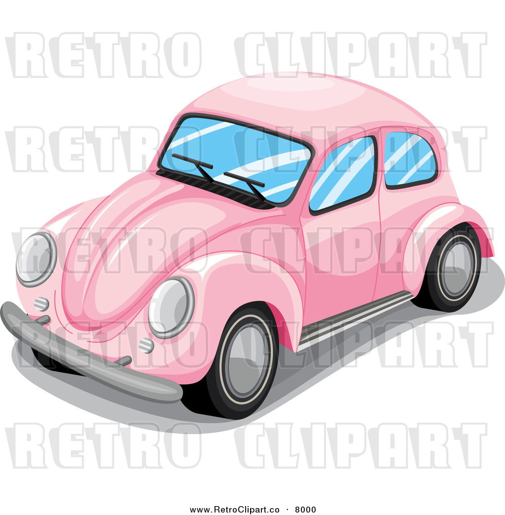 File Name   Vector Clipart Of A Retro Pink Vw Slug Bug Car By Colematt
