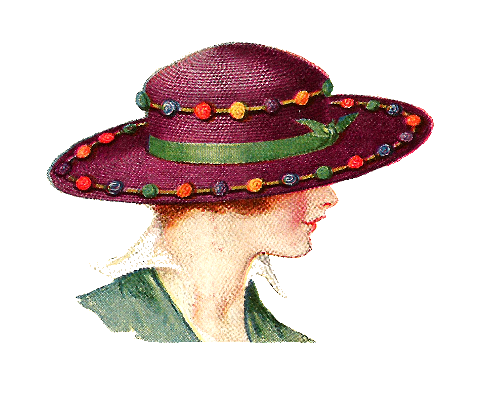 Free Fashion Clip Art  2 Vintage Fashion Graphics Of Women S Hats