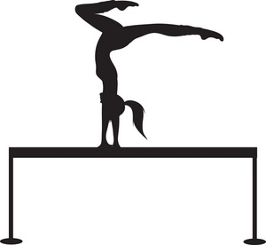 License This Gymnastics Clipart Image Order Gymnastics Poster Prints