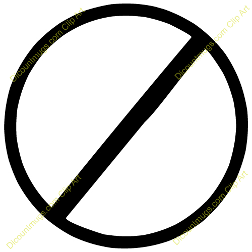 No Clipart No Sign