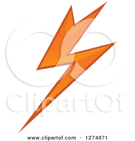 orange and blue lightning bolt clipart clipart suggest