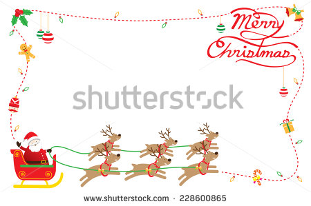 Santa Claus Reindeer Stock Photos Images   Pictures   Shutterstock