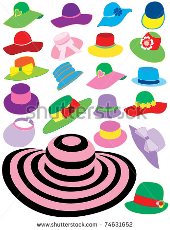 Summer Hats Stock Vector Illustration 74631652   Shutterstock