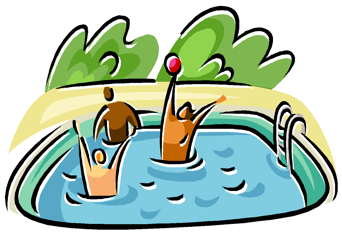 Swimming pool cartoon clipart clipart suggest for Free clipart swimming pool party