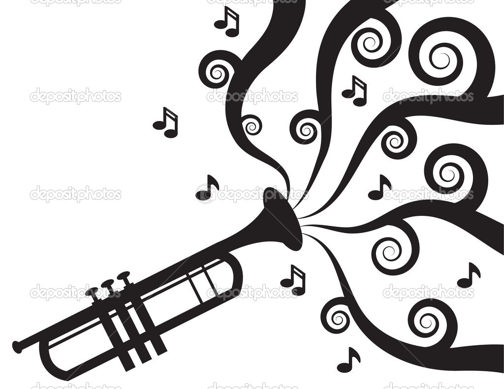 Trumpet Playing Music Silhouette   Stock Vector   Milo827  12324491