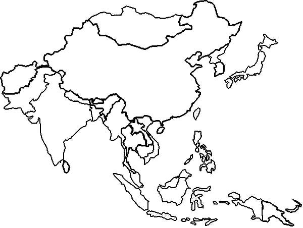 Asia Map Clipart Suggest