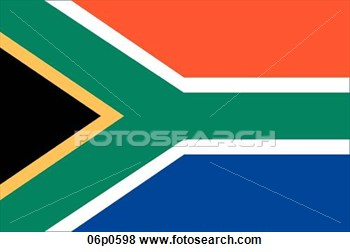 Clip Art Of South Africa Flag 06p0598   Search Clipart Illustration