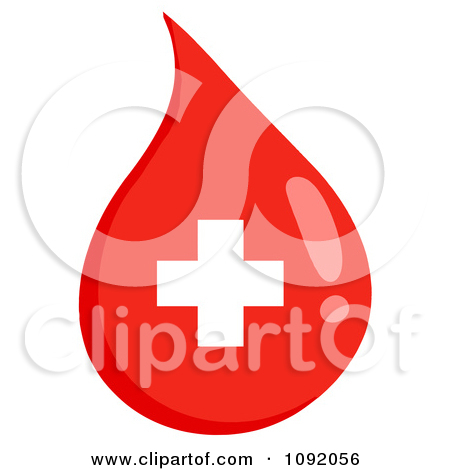 Clipart First Aid Blood Drop   Royalty Free Vector Illustration By Hit