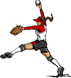 Fast Pitch Softball Pitcher Vector Illustration Stock Vector