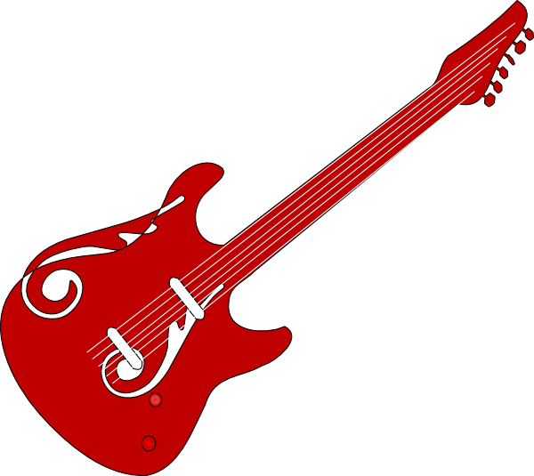Red Guitar Clip Art At Clker Com   Vector Clip Art Online Royalty