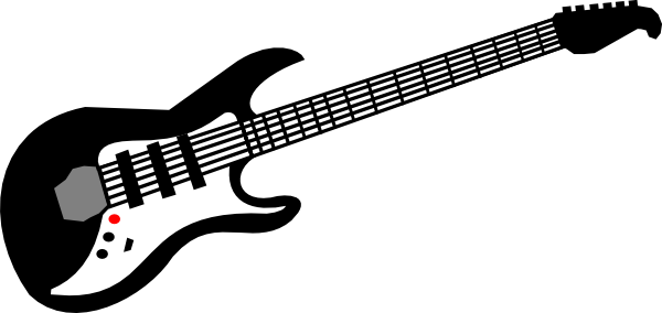 Red Guitar Clipart