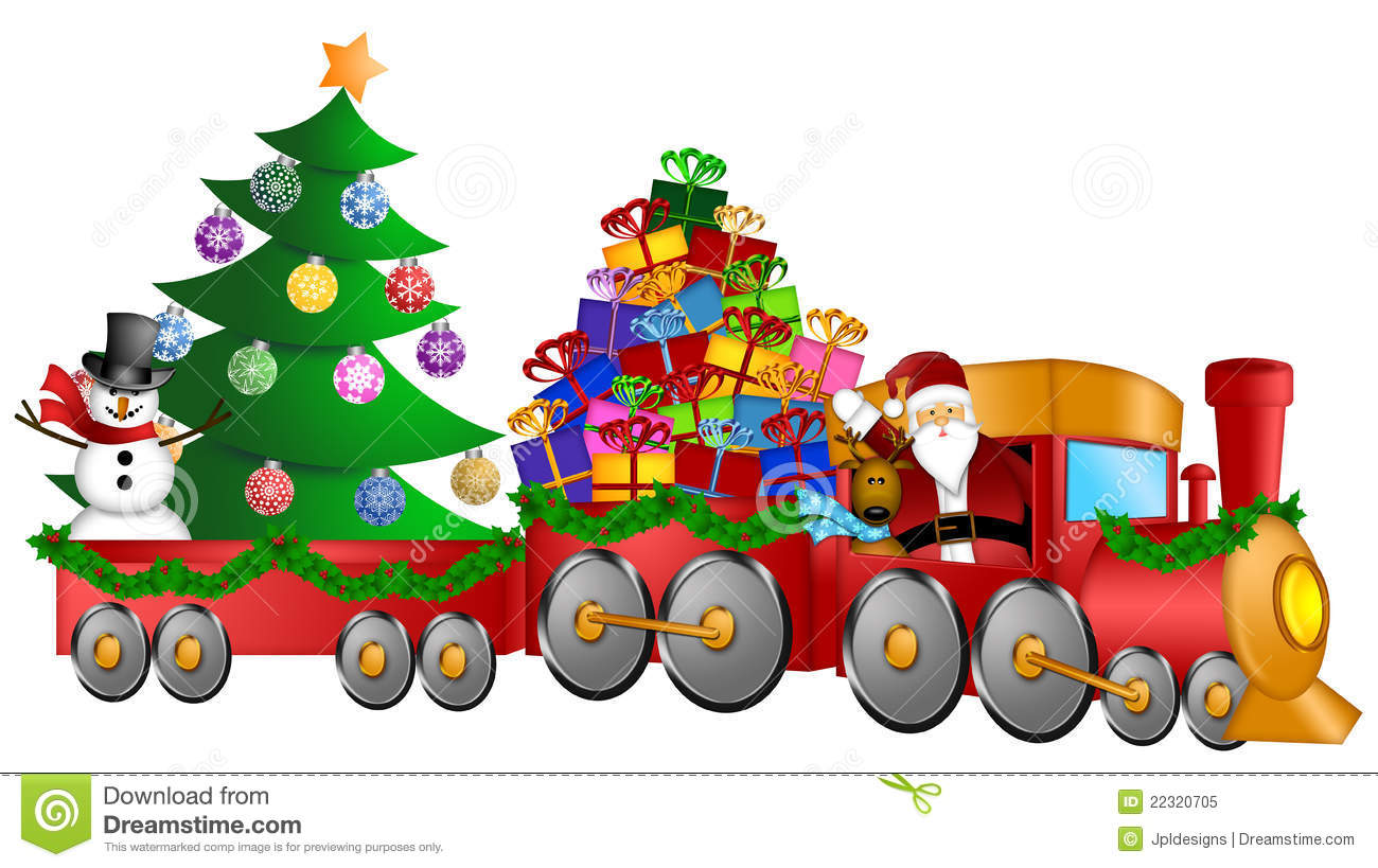 Train Christmas Toys Clipart - Clipart Suggest