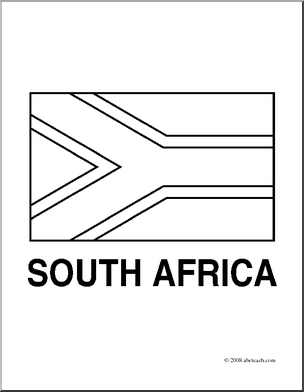 South africa flag clipart clipart suggest for Africa flag coloring page