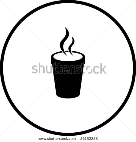 Styrofoam Cup Clipart Stock Vector Styrofoam Cup With Hot Beverage