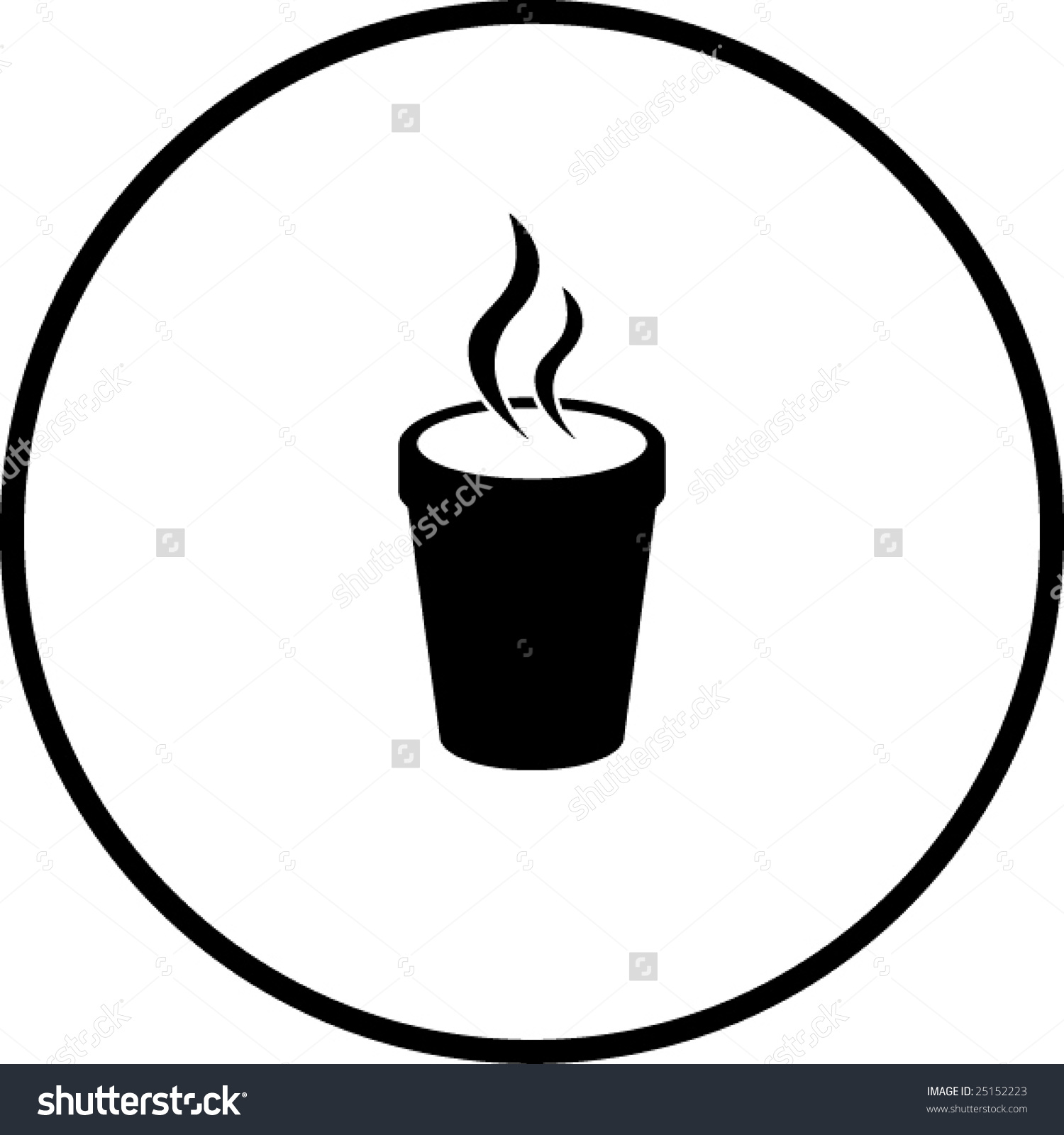 Styrofoam Cup Clipart Styrofoam Cup With Hot Beverage Symbol Stock