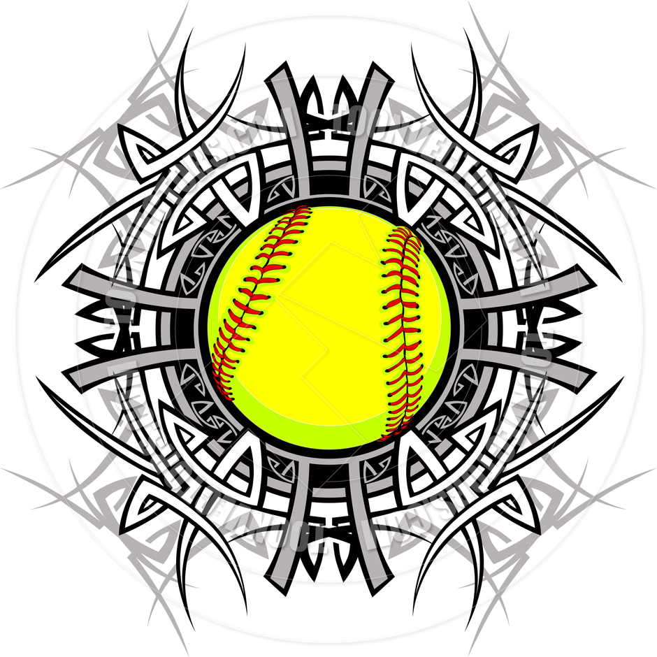 Yellow Softball Clip Art Softball Clipart