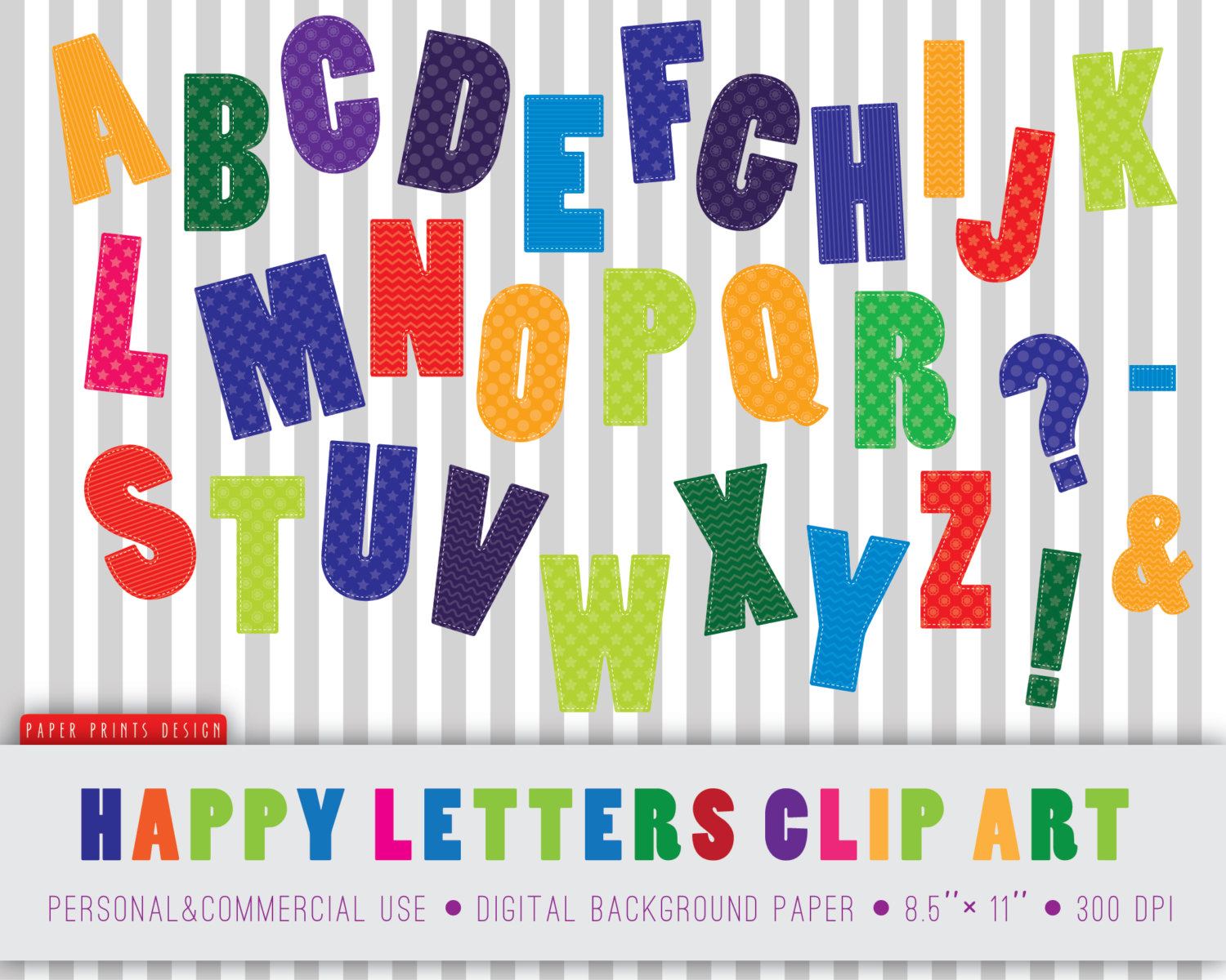 30 Alphabet Clipart Alphabet Clip Art Abc By Paperprintsdesign