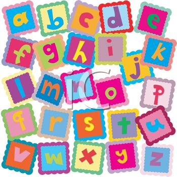 all the letters of the alphabet in abc blocks for learning royalty