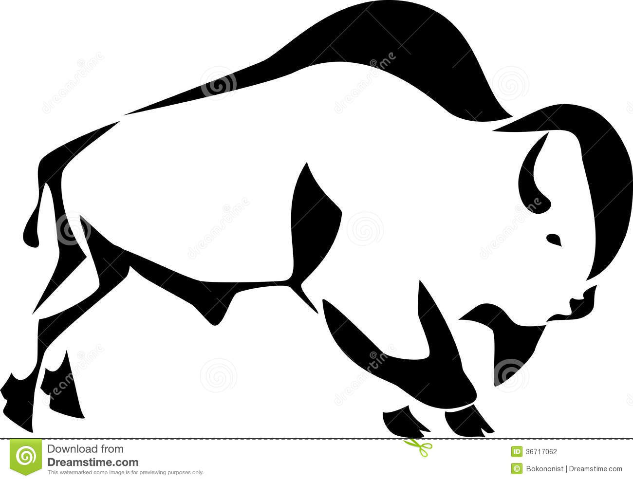 Bison Clip Art Black And