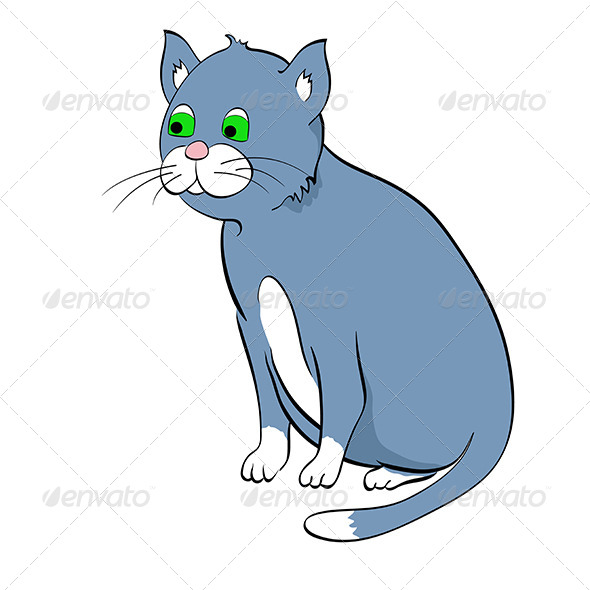 Blue Cat 5067196 Stock Vector Characters Animals Clip Purring Purr