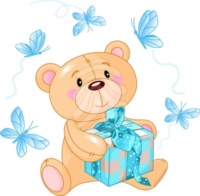 Blue Teddy Bear Clipart - Clipart Kid