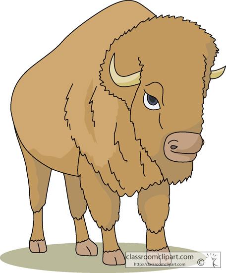 Clip Art Bison Clipart bison cartoon clipart kid buffalo animal 1713 classroom clipart