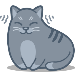 Cat Purring Cartoon Cat Purr Icon Meow Iconset Iconka Com