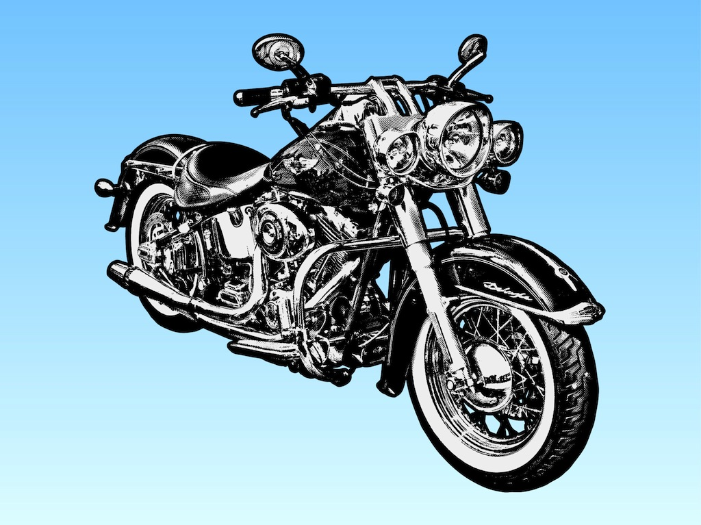 Harley-davidson Motorcycle Clipart - Clipart Suggest