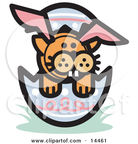 Orange Cat Wearing Bunny Ears And Buck Teeth And Sitting In An Easter