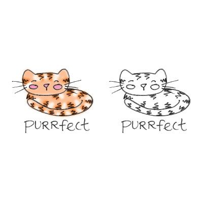 Purrfect Cat Purrfect Cat   Digital Stamp And Clipart Freebie