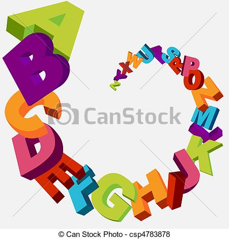 Abc Alphabet Letters Clipart - Clipart Kid