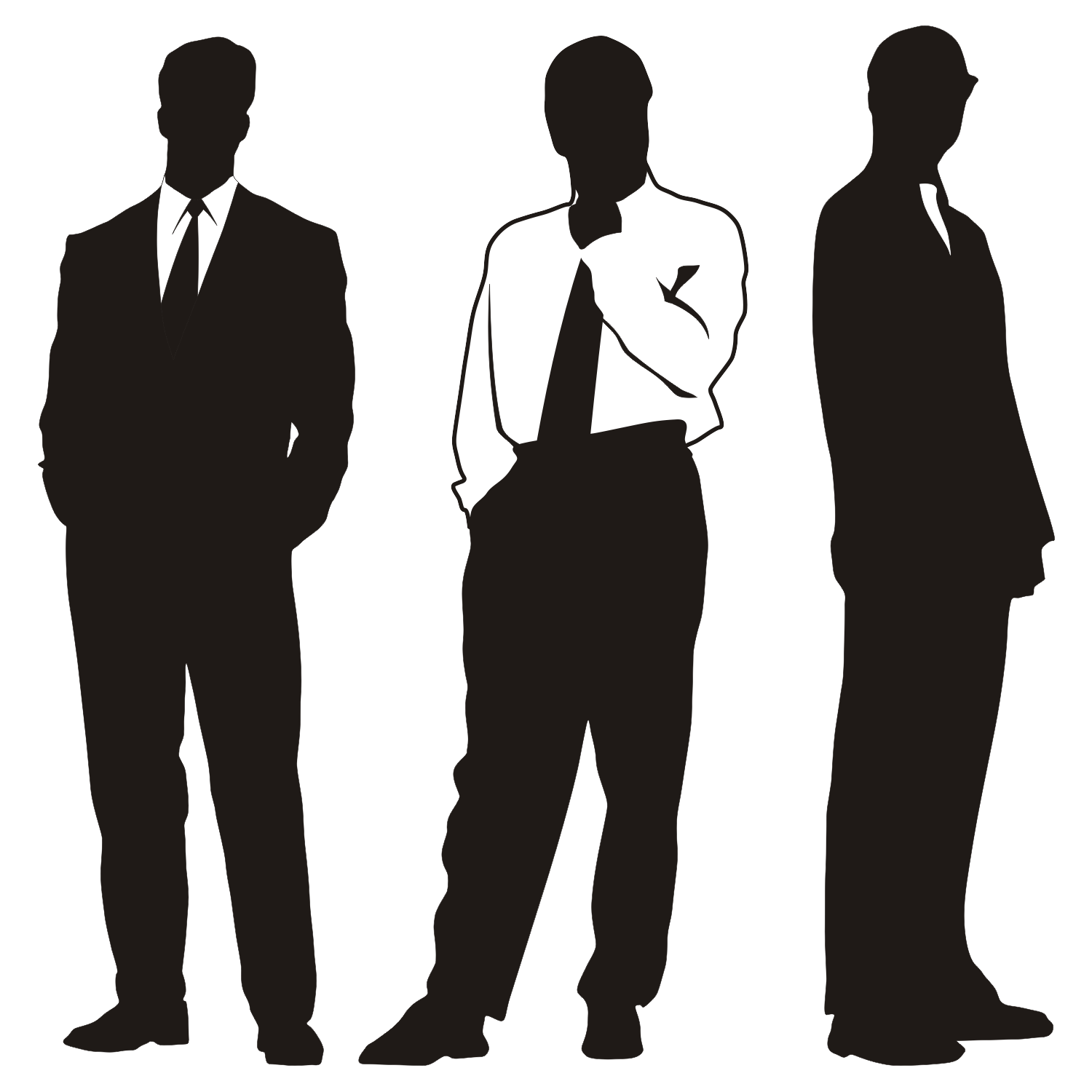 Vector For Free Use Silhouettes Of Businessmen