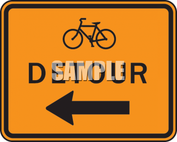 0511 0906 0518 5543 Road Signs Bicycle Detour Sign Clipart Image Jpg