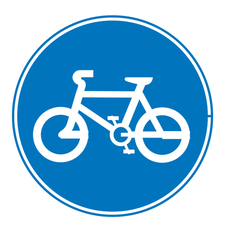 Art   Road Signs Clip Art Images   Graphics   Bicycle Route Sign Png