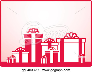 Background With Many Holiday Wedding Gift  Clipart Drawing Gg64033259