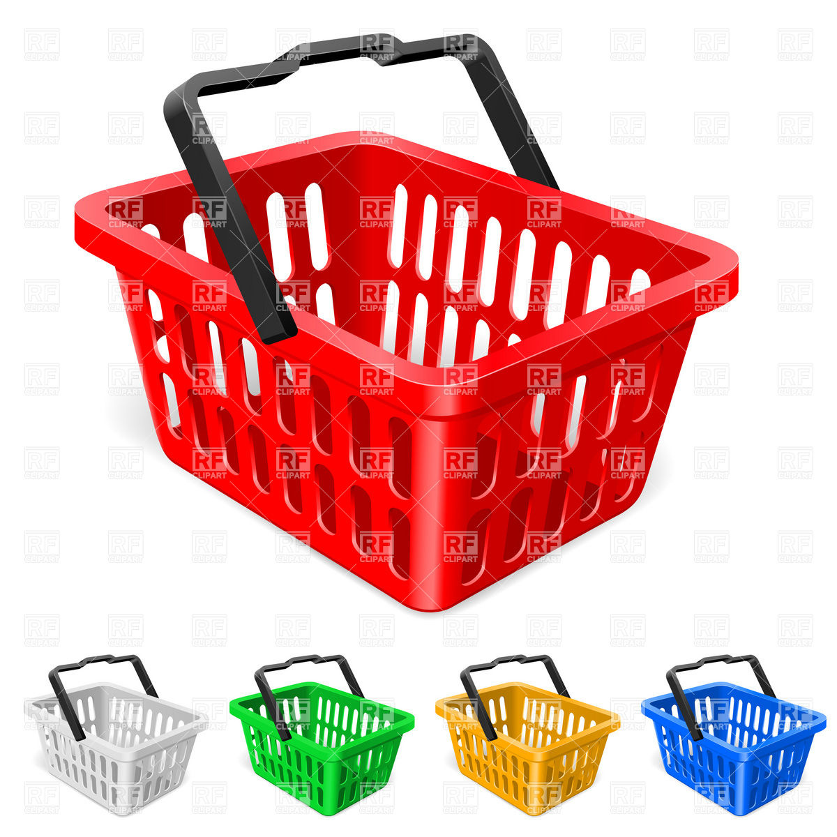 Basket 7640 Objects Download Royalty Free Vector Clipart  Eps