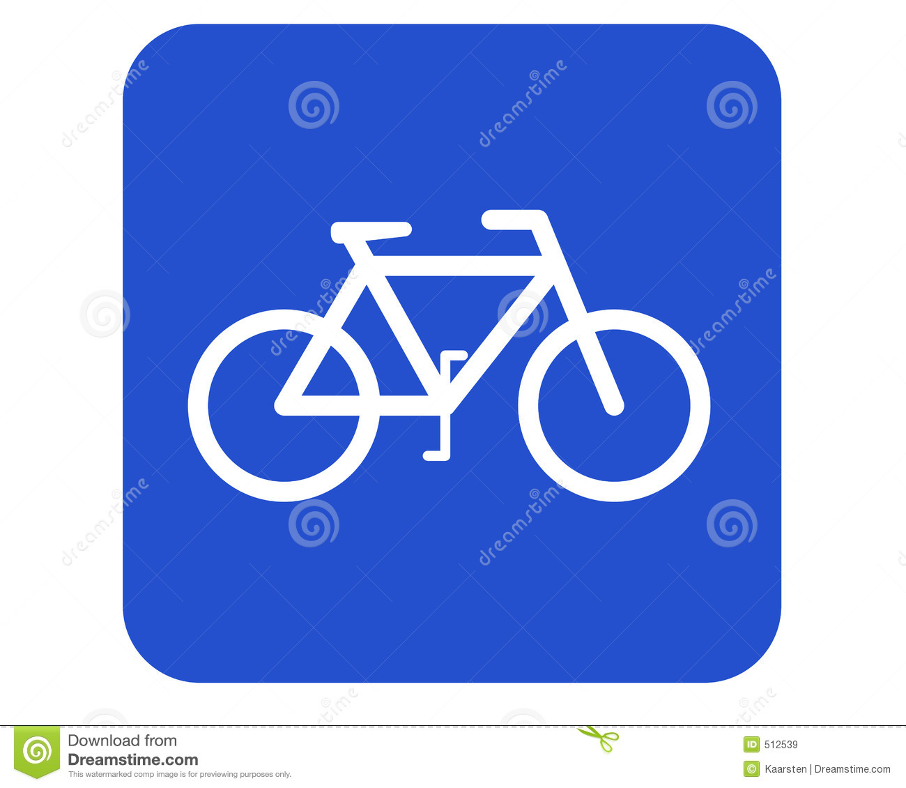 Bicycle Route Sign Black White Line Art Squiggly Svg Clipart   Free