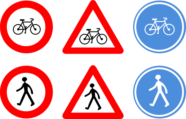 Bicycle Traffic Signs Clip Art At Clker Com   Vector Clip Art Online