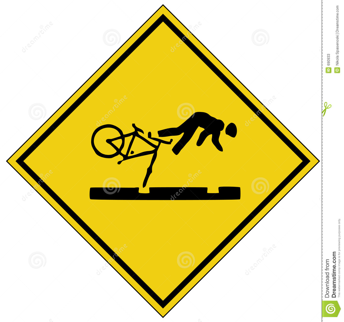 Bike Crash Sign  Ai Format Available  Stock Photos   Image  690933