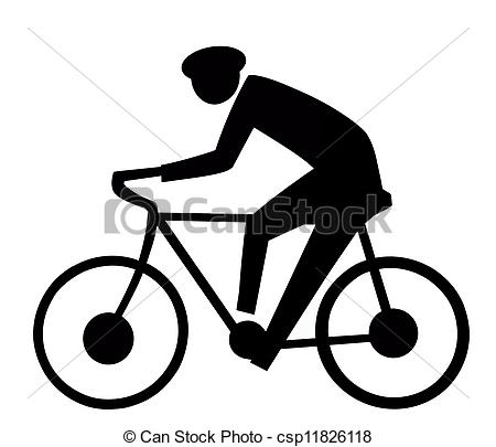 Clipart Of Bicycle Sign   Black And White Bicycle Sign Csp11826118