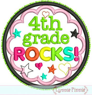 Fourth Grade Rocks Clip Art 4th Grade Rocks Applique