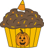 Halloween Cupcake 2 For Return Address Labels