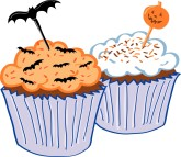 Halloween Cupcake Clipart   Clipart Panda   Free Clipart Images