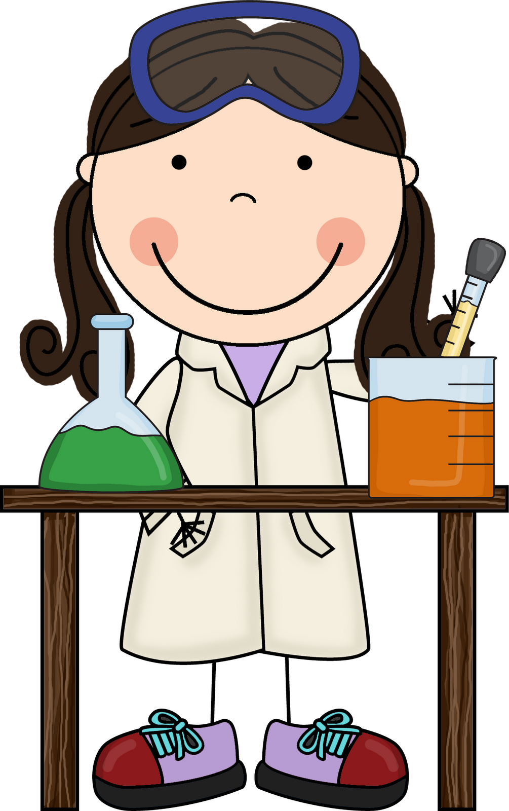 Girl Mad Scientist Clipart - Clipart Kid